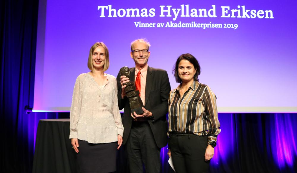 Thomas Hylland Eriksen mottok Akademikerprisen