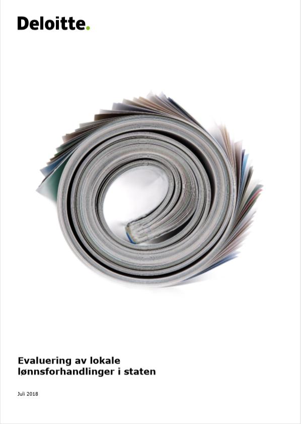 Evaluering av lokale lønnsforhandlinger 2016-18 (Deloitte/KMD)